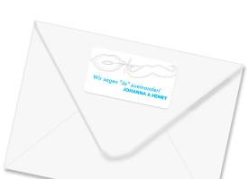 Adressetiketten Phoenix (Aufkleber) Blau