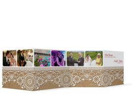 Gastgeschenke zur Hochzeit Heidelberg (Fotoleporello) Bordeaux