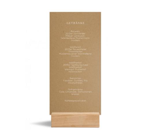 Speisekarte (Einfachkarte, Kraftpapier), Motiv: Malaga, Rückseite, Farbvariante: weiss