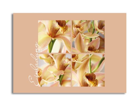 Einladung Orchideen (Postkarte)