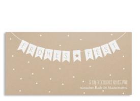 Weihnachtspostkarte Weihnachtskette Weiß