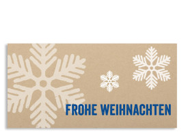 Weihnachtskarte Eissterne (Postkarte) Blau