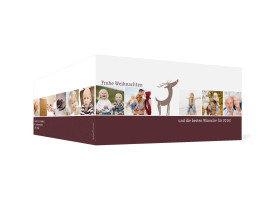 Weihnachtskarte Jahresrückblick (Klappkarte DL) Bordeaux