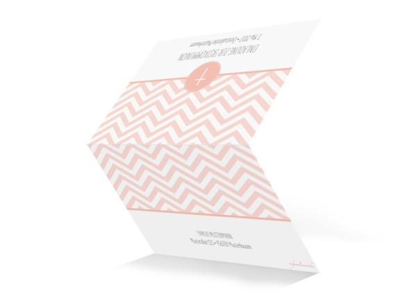 Einladungskarte zur Kommunion Hamptons Cross, Außenansicht in Apricot