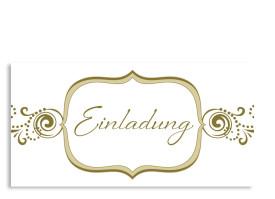 Einladungskarte Goldene Zeiten (Postkarte) Beige