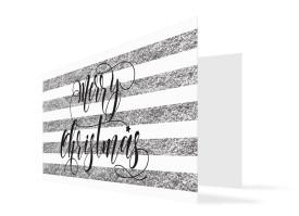 Grußkarte zu Weihnachten Copper (Klappkarte) Silber