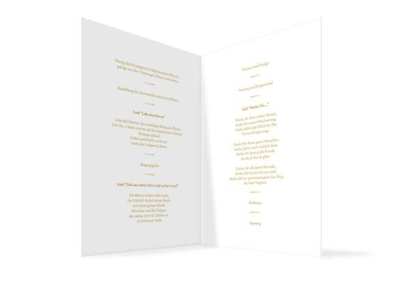 Innenansicht, Klappkarte zur Hochzeit (Kirchenheft), Motiv Casablanca, Farbversion: beige