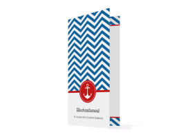 Menükarten Hamptons Anchor Blau/Rot