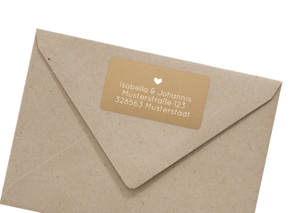 Adress-Aufkleber (66 x 35 mm), Motiv: Malaga, mit Briefhülle, Farbvariante: weiss