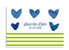 Save the Date Karten Düsseldorf Blau/Grün