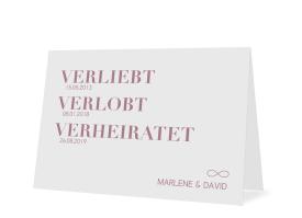 """Hochzeitseinladung """"Liebe"""" altrosa"""
