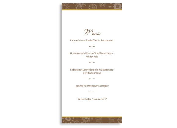 Rückseite, Menükarte zur Hochzeit (DIN Lang-Karte, zweiseitig), Motiv Reykjavik, Farbversion: blau