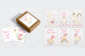 """Baby Meilensteinkarten """"Unicorn"""""""