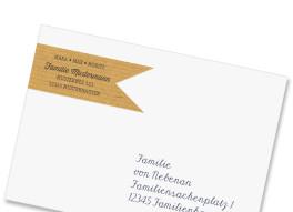 Adress-Fähnchen Packpapier