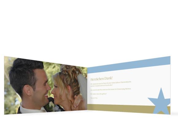 Innenansicht, Danksagungs-Klappkarte zur Hochzeit (Format DIN Lang), Motiv New York, Farbversion: blau-oliv