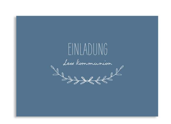 """Einladung zur Kommunion """"Zweig"""" (Postkarte)"""