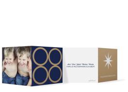 Grußkarte zu Weihnachten Geometrics