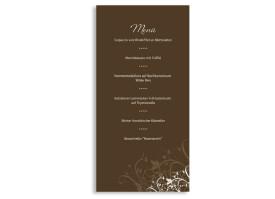 Menükarten zur Hochzeit Wien (DIN Lang-Karte) Braun