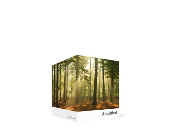 Sterbebilder Wald, Innenansicht der Farbversion: braun/weiß