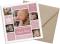 Karte zur Geburt (quadratische Postkarte), Motiv: Laguna/Leandro, mit Briefhülle, Farbvariante: altrosa