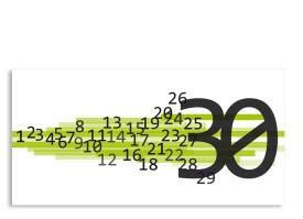 Einladung Technik 30. Geburtstag (Postkarte, ohne Foto) Grün