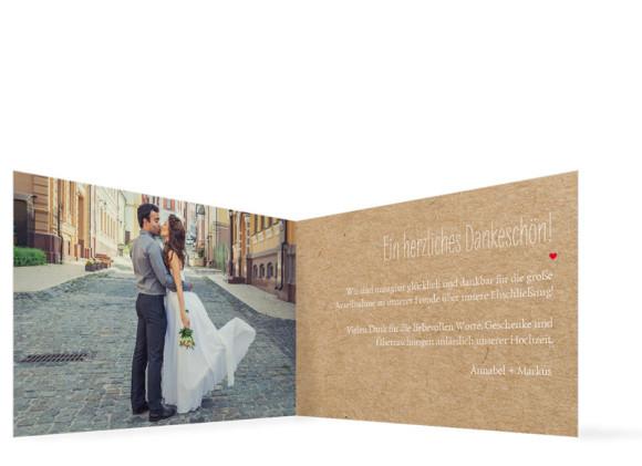 Danksagung Hochzeit Luzern, Innenansicht der Farbversion: beige