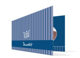 Geburtskarte Bernadette/Benedikt (Klappkarte DIN Lang)