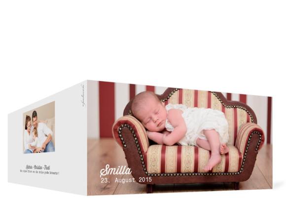 Außenansicht der Fotokarten zur Geburt