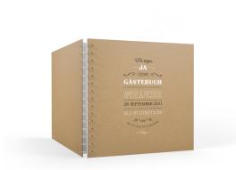 """Rotterdam natural"" Gästebuch (20 x 20 cm)"