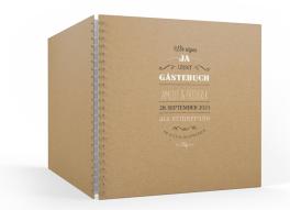 """Rotterdam natural"" Gästebuch (30 x 30 cm)"