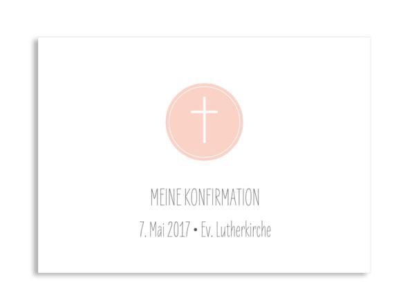 Konfirmationseinladung Pure Cross