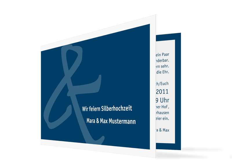 Silberhochzeit Bern (C6 Karte) Blau