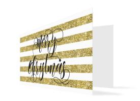 Grußkarte zu Weihnachten Copper (Klappkarte) Gold