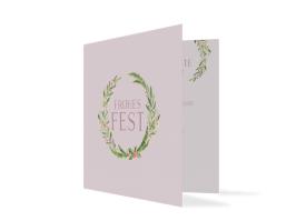 """Weihnachtskarte """"Weihnachtsmistel"""" altrosa"""