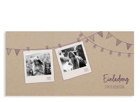 """Einladungen zum Geburtstag """"Lebensweg"""" aubergine"""