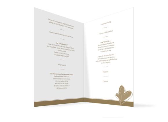 Innenansicht, Klappkarte zur Hochzeit (Kirchenheft), Motiv London, Farbversion: beige