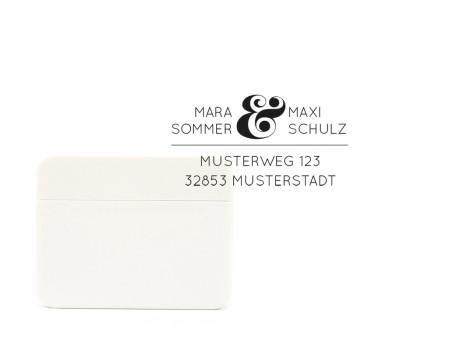 Stempel Salzburg mit Adresse (rechteckig, 61 x 28 mm)