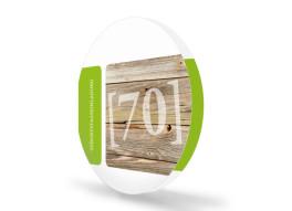 Geburtstagseinladung zum 70ten Zürich (runde Klappkarte)