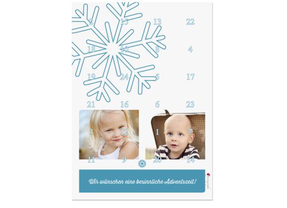 Foto-Adventskalender Eiskristall (DIN A4)