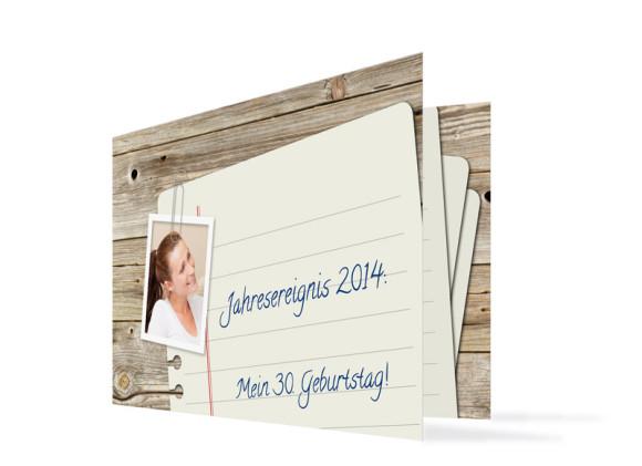 Einladungskarten Notizzettel (Klappkarte)