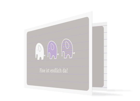 Karten zur Geburt Fine/Fero (Klappkarte)
