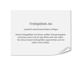 Bedruckte Einlegeblätter 143 x 108 mm (transparent)