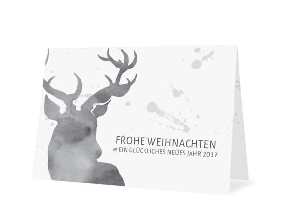 Weihnachtskarte Hubertus