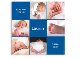 Geburtsplakat Luise Laurin