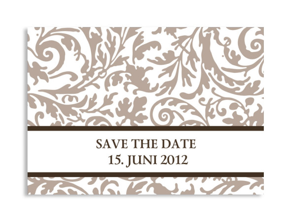 Save-The-Date-Hochzeitskarte Rokko Weiß (Postkarte A6)