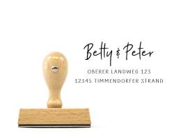 """Adress-Stempel """"Timmendorfer Strand"""" (Holzstempel)"""