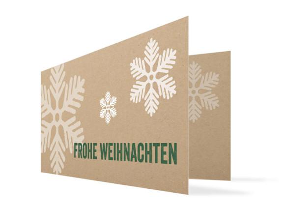 Firmen-Weihnachtskarten Eissterne
