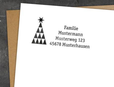 Weihnachtsstempel Origami