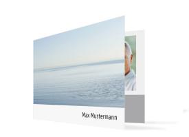 Trauerkarten Fotokarte (Klappkarte C6) Weiß