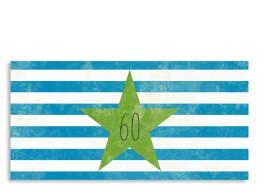 Einladungskarte Vintage Star zum 60. (Postkarte, mit 2 Fotos)